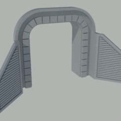 boca tunel.png Download free STL file N-scale tunnel mouth • 3D printer design, gaudikudo