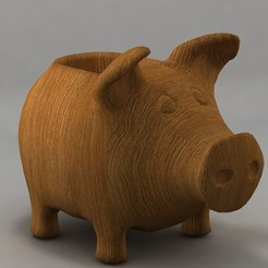 pigga.jpg Download STL file Piggy planter • 3D printing model, topslanewsmaker1970