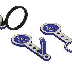 jetons caddie v3 23.25mm 2.33mm v46.jpg Télécharger fichier STL gratuit Jeton de caddie adapté pour personne handicapé ayant des problèmes de préhension • Modèle pour impression 3D, oneOz