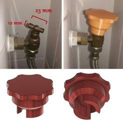 vanne1.jpg Download free STL file Valve for toilet tap (aid for handicapped person) • 3D printable template, oneOz