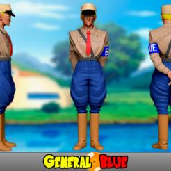 RenderGeneralBlue1.png Télécharger fichier STL General Blue - Dragon Ball • Plan pour imprimante 3D, CokeCatala