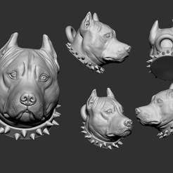 Descargar Modelos 3D para imprimir gratis pit bull, brunogueredo