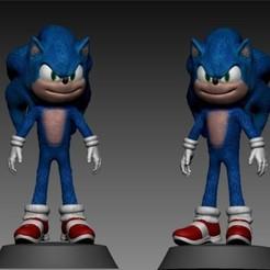 1.jpg Télécharger fichier STL Sonic • Objet pour impression 3D, brunogueredo