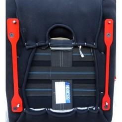 a11.jpg Download OBJ file Sparco seat bracket for Mazda MX-5 Miata OEM rails adapter • 3D printer model, kifli