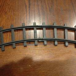 IMG_20171017_192228.jpg Download free STL file Lionel Ready-to-Play Curved Train Track • 3D printer template, malamaker