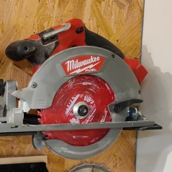 IMG_20200831_194258.jpg Download free STL file Milwaukee M18 FUEL 6-1/2in Curcular Saw Wall Mount (2730-20) • 3D printer model, malamaker