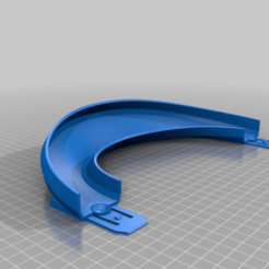 8356eb973eaf3f65d9b007c4f9ef42f7.png Télécharger fichier STL gratuit Piste de Hot Wheel 180 degrés, virage 45 degrés, rive avec menuisier • Objet imprimable en 3D, malamaker