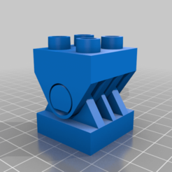 LARGE_INTERLOCKING_BLOCK_2x2_90degreeHinge.png Download free STL file Large Interlocking Block Hinge Adapter • 3D printable model, malamaker