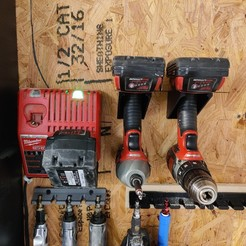 IMG_20200831_083210.jpg Download free STL file Milwaukee M18 Drill / Driver Wall Mount • 3D printing design, malamaker