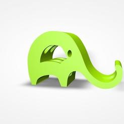 1.jpg Télécharger fichier STL Eléphant porteur de téléphone portable • Objet pour imprimante 3D, nelsonaibarra