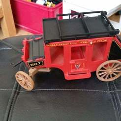 20190703_154421.jpg Download free STL file Playmobil 1976 stage coach roof • 3D print model, Thanalas