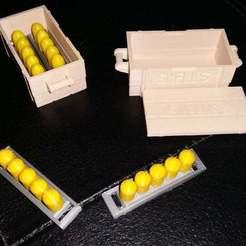 20190607_164439.jpg Télécharger fichier STL gratuit Caisse d'obus personnalisée pour le porte-canon Playmobil de la guerre civile des années 1980 • Objet pour impression 3D, Thanalas