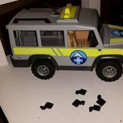 20190515_221734.jpg Download free STL file Playmobil mountain rescue jeep (5427) mirror • 3D printing object, Thanalas