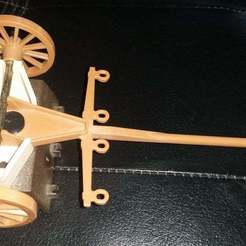 Download free 3D printing files Playmobil 1980s cannon limber swivel pin (nr 3278), Thanalas