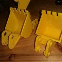 20190530_054000.jpg Download free STL file Playmobil 1998 excavator digger bucket (3001) • 3D print template, Thanalas