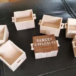 "Descargar Modelos 3D para imprimir gratis Caja para la tapa de ""Explosivos peligrosos"" de Playmobil, Thanalas"