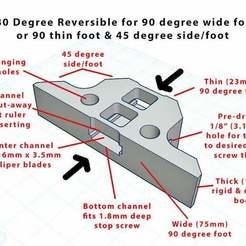 Diagram_1.jpg Télécharger fichier STL gratuit Étrier iGaging IP54 - Pied de profondeur (réversible 90 et 45 degrés) • Objet pour imprimante 3D, sajohnsen1