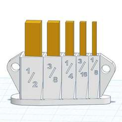 5-Pc_Set_Up_Gauge_Tray_Holder_-_Labelled.jpg Télécharger fichier STL gratuit Support de jauges (5 pièces) - autoportant et suspendu • Plan pour impression 3D, sajohnsen1