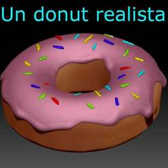 donut.jpg Download free STL file A realistic Donut, Un donut realista • 3D printable template, benjaminbaban