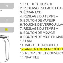 Anneau_de_verrouillage.JPG Download free STL file Locking ring for Tommee Tippee baby food mixer • 3D printer template, fabtats