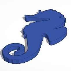 20-9-2020 22.9.11 2.jpg Download STL file Seahorse keychain • 3D printing model, lafabrika