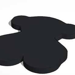 25-9-2020 0.9.14 2.jpg Download STL file Tous bear key ring • Template to 3D print, lafabrika
