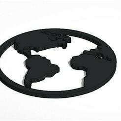 17-1-2021 21.1.46 1.jpg Télécharger fichier STL Carte du monde Magnet • Design à imprimer en 3D, lafabrika