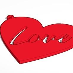 Descargar archivo 3D gratis Llavero corazon Love, javitrue