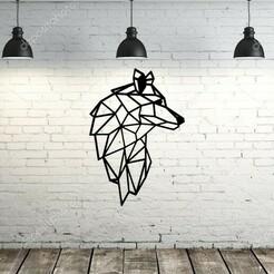 fondo.jpg Download STL file painting / origami wolf • 3D print design, lafabrika