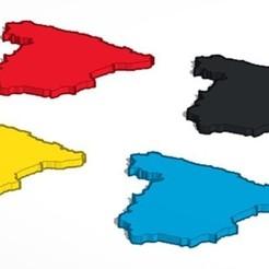 24-9-2020 17.9.3 1.jpg Télécharger fichier STL Carte d'Espagne • Objet pour imprimante 3D, lafabrika