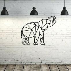 fondo.jpg Download STL file painting / origami elephant • Template to 3D print, lafabrika