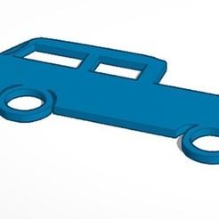 4-8-2020 18.8.56 1.jpg Download STL file key ring VW t2 Bus pickup • 3D print template, lafabrika