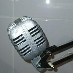 Descargar Modelos 3D para imprimir gratis pequeño micrófono vintage, rebenoit42