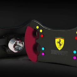Ferrari GT£ Steering Wheel.11.jpg Download STL file Sim Racing Gt3 Steering Wheel • 3D printable template, Kevincreo