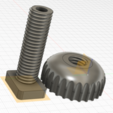 Download free 3D printing designs nut and bolt, ioroberto65