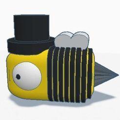 Captura.JPG Télécharger fichier STL Bourdonnier de la reine des abeilles Travailleur apicole Ramasseur d'abeilles Bourdonnier • Plan à imprimer en 3D, positivity