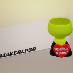 MAMATEQUIERO.jpg Download 3MF file HEART POT • 3D printing design, mauroezet