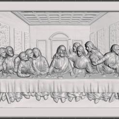 Download free STL file Jesus Last Supper, tawdross