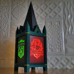 Télécharger STL Harry Potter - Hogwarts Coats of arms lantern, AnaonIndustries
