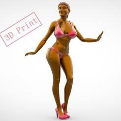 5.1-3.jpg Download 3MF file POSE N5 ATTRACTIVE WOMAN MINIATURE 3D PRINT MODEL • 3D printing model, nasiri12460