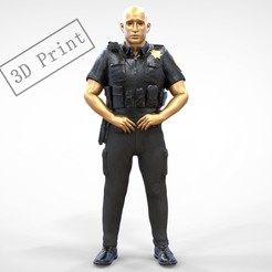 P1.1e.jpg Download 3MF file N1 American Police Officer Miniature Updated Pose 3D print model • 3D printer design, nasiri12460