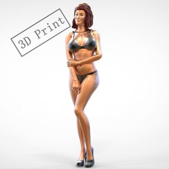 8.1e.jpg Download 3MF file POSE N8 ATTRACTIVE SEXY WOMAN MINIATURE 3D PRINT MODEL • 3D printer design, nasiri12460