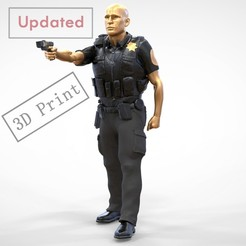 P2-1.1e2.jpg Download 3MF file N2 American Police Officer Miniature 3D print model • 3D print design, nasiri12460
