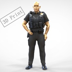 P1.1e.jpg Download 3MF file N1 American Police Officer Miniature 3D print model • Model to 3D print, nasiri12460