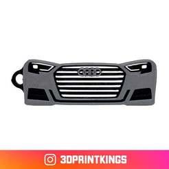 Thingi-Image.jpg Download free STL file Audi S3 (8V) - Key Chain • Design to 3D print, 3dprintkings
