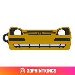 Thingi-Image.jpg Download free STL file Hyundai Getz - Key Chain • 3D print design, 3dprintkings
