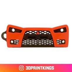 Download free 3D print files Mitsubishi Lancer Evolution - Key Chain, 3dprintkings