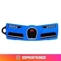 Télécharger fichier imprimante 3D gratuit Bugati Chiron - Porte-clés (multi-matériaux), 3dprintkings