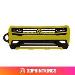 Download free STL files VW Atlas - Key Chain, 3dprintkings