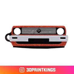Thingi-Image.jpg Download free STL file VW Golf II - Key Chain • 3D printer object, 3dprintkings